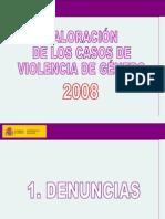 19-1-09-Balance Violencia de gÉnero 2008. Delegacion Especial