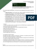 Acta Constitutiva, Equipo 8