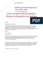 IGNOU MBA MS04 Solved Assignments Dec 2012