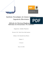 Método de Newton-Raphson para Sistemas de Ecuaciones No Lineales