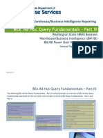 Workshop BEx AdHoc QueryFundamentals Part -III