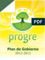 Plan de Gobierno 2012 Partido PROGRE
