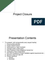 Project Closure Presentation