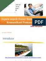 SKOM4328 #4 - Aspek-Aspek Dasar Kunci Analisis Komunikasi Pemasaran