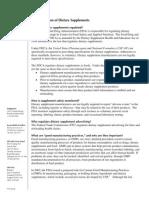 Dietary Supplement Regulation