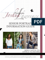"Joshua Lawrence Photography ""SENIOR"" Pricing Guide"