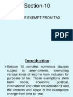 Income Exempt From Tax