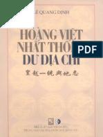 Hoàng Việt Nhất Thống Dư Địa Chí