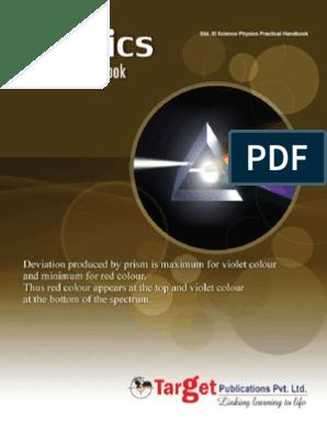 Std Xi Physics Practical Handbook | Lens (Optics) | Natural Philosophy