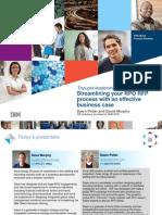 IBM Murphy Pellar StreamliningYourRPO RFP Process 270912