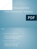 MEF - Efort Deformatii (Ppt)
