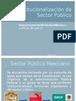 Institucionalización de Sector Público