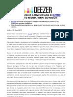 Deezer Asia Release