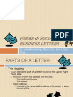 Technical Writing - Business Letters