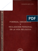 Clar - Pobreza, Obediencia Realizacion Personal en La Vida Religiosa