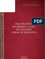 Clar - Vida Religiosa en America Latina, Lineas de Busqueda