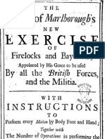 The Duke of Marlborough's new Exercice of Firelocks and Bayonets, 1708