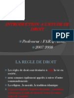 Introduction a Letude de Droit
