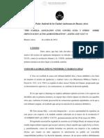 """""""PRO FAMILIA ASOCIACION CIVIL CONTRA GCBA Y OTROS SOBRE"""
