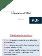 International HRM - Nature