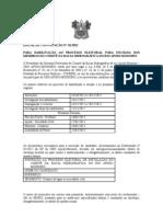 EDITAL DE CONVOCAÇÃO Nº 01 SEMARH ELEIÇÃO MEMBROS COMITÊ BACIA  APODI MOSSORÓ