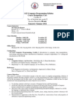 CS 1123 Computer Programming Outline Updated