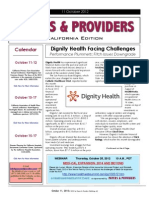 Payers & Providers California Edition – Issue of October 11, 2012