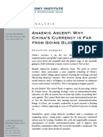 Anaemic Ascent- Why China's Currency is Far From Going Global