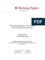Estimating the Effects of Coordinated Fiscal Actions in the Euro Area