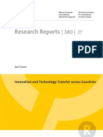 Innovation and Technology Transfer Across Countries