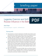 Legacies, Coercion and Soft Power- Russian Influence in the Baltic States
