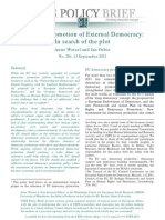 The EU's Promotion of External Democracy- In Search of the Plot
