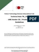 Tn 100 Usb Vid-pid Guidelines