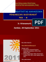 PKM Pengabdian Masyarakat (PKMM) 20