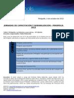 Jornadas de Capacitación y Sensibilización – Piriápolis 2012