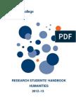Research Students Handbook