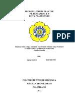 Proposal Kerja Praktek Pt. Sumatera Prima Fibreboard