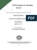 FPGA Based PWM Techniques for Controlling Inverter