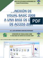 Conexion de Acces y Visual 2008 o 2010