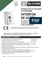 Electra Instructiuni Interfon ELECTRAPASS