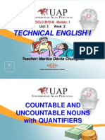 Ayuda 2.1. Countable and Uncountable Nouns With Quantifiers