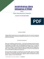 La Persévérance Dans L_obéissance D_Allah
