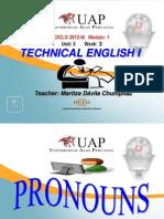 Ayuda 3.1. Pronouns Subject Object and Possessives