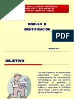 Modulo II Identificacion - Diapos de la Ing. Claudet