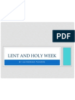 lent and holy week finished