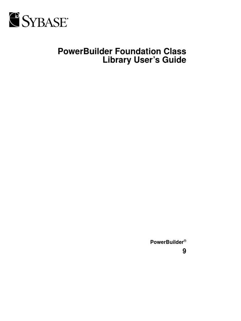 power builder fundation class object computer science rh es scribd com Schumacher Homes Lafayette LA House Floor Plans