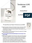 Presynthese Etude Tendances Luxe 2009 by Duringer