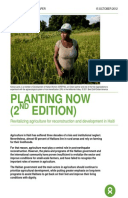 Planting Now (2nd Edition): Revitalizing agriculture for reconstruction and development in Haiti