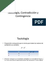 Tautologia Contradiccion y Contingencia