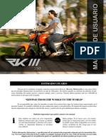 Manual Usuario RKIII 150 Cc